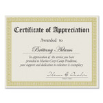 Great Papers! Foil Border Certificates, 8.5 x 11, Ivory/Gold, Channel, 15/Pack Product Image