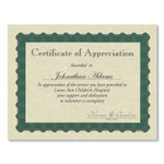 Great Papers! Metallic Border Certificates, 11 x 8.5, Ivory/Green, 100/Pack Product Image