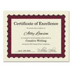 Great Papers! Metallic Border Certificates, 11 x 8.5, Ivory/Red, 100/Pack Product Image