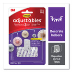 Command Adjustables Repositionable Mini Hooks, Plastic, White, 0.5 lb Capacity, 14 Hooks and 30 Strips Product Image