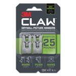 3M Claw Drywall Picture Hanger, Holds 25 lbs, 4 Hooks and 4 Spot Markers, Stainless Steel Product Image