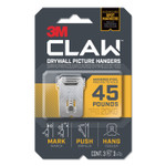 3M Claw Drywall Picture Hanger, Holds 45 lbs, 3 Hooks and 3 Spot Markers, Stainless Steel Product Image
