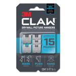 3M Claw Drywall Picture Hanger, Holds 15 lbs, 5 Hooks and 5 Spot Markers, Stainless Steel Product Image