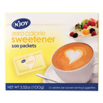 N'Joy Yellow Sucralose Zero Calorie Sweetener Packets, 1 g Packet, 100 Packets/Box Product Image