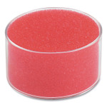 """Officemate Sponge and Cup Moistener, 1.5""""h x 3""""dia, Red Product Image"""