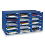 Pacon Classroom Keepers Corrugated Mailbox, 31.5 x 12.88 x 16.38, Blue Product Image