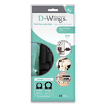 """UT Wire D-Wings Nail-Free Cord Clips, 12 Small 0.38"""", Six Large 0.5"""", Black, 18/Pack Product Image"""