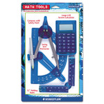 Staedtler Four-Piece Math Tools Set, Plastic, Assorted Colors Product Image