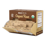 ecoStick Organic Raw Cane Sugar Packets, 3 g Packet, 120 Packets/Box Product Image