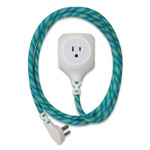 360 Electrical Habitat Accent Collection Braided AC/USB Extension Cord, 6 ft, 13 A, Mint Julep Product Image