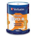 Verbatim DVD-R LifeSeries Printable Disc, 4.7 GB, 16x, Spindle, White, 100/Pack Product Image