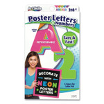 ArtSkills Neon Color Poster Letters and Numbers, 310/Pack Product Image