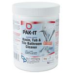 PAK-IT Basin, Tub and Tile Cleaner, Ocean, 4 oz Packets, 20/Jar, 12 Jar/Carton Product Image