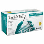AnsellPro Touch N Tuff Nitrile Gloves, Teal, Size 9 1/2 - 10, 100/Box Product Image