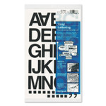 """Chartpak Press-On Vinyl Letters and Numbers, Self Adhesive, Black, 1 1/2""""h, 37 Letters and Numbers Product Image"""