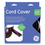 """GE Power Gear Cord Cover, 2.5"""" x 6 ft, Black Product Image"""