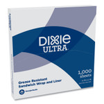 Dixie All-Purpose Food Wrap, Dry Wax Paper, 12 x 12, White, 1,000/Carton Product Image