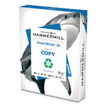 Hammermill Great White 30 Recycled Print Paper, 92 Bright, 20lb, 8.5 x 11, White, 500/Ream Product Image