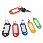 Honeywell Colored Key Tags, Plastic, 0.9 x 2, Assorted, 20/Pack Product Image