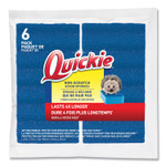 Quickie Non-Scratch Scrub Sponges, 4.25 x 2.5, Blue, 6/Pack Product Image