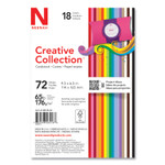 Neenah Paper Creative Collection Premium Cardstock, 65 lb, 4.5 x 6.5, Assorted Starter Pack, 72/Pack Product Image