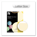 Neenah Paper Exact Vellum Bristol Cover Stock, 67 lb, 8.5 x 11, Ivory, 250/Pack Product Image