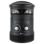 "Alera 360 Deg Circular Fan Forced Heater, 8"" x 8"" x 12"", Black Product Image"