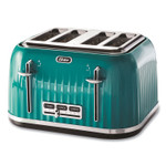 Oster 4-Slice Toaster with Textured Design with Chrome Accents, 12 x 13 x 8, Teal Product Image