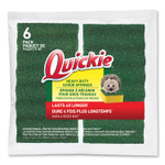 Quickie Long Lasting Heavy Duty Scrub Sponge, 4.25 x 2.5, Green, 6/Pack Product Image