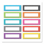 """Teacher Created Resources Chevron Labels Magnetic Accents, 10 Assorted Colors, 4.75"""" x 1.5"""", 20/Pack Product Image"""