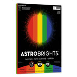 """Astrobrights Color Cardstock -""""Primary"""" Assortment, 65lb, 8.5 x 11, Assorted, 50/Pack Product Image"""