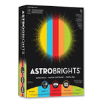Astrobrights Color Cardstock, 65 lb, 8.5 x 11, Assorted Colors, 1,250/Pack Product Image