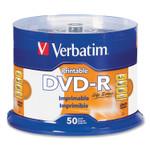 Verbatim DVD-R LifeSeries Printable Disc, 4.7 GB, 16x, Spindle, White, 50/Pack Product Image