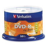 Verbatim DVD-R LifeSeries Branded Disc, 4.7 GB, 16x, Spindle, Silver, 50/Pack Product Image