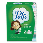 Puffs Plus Lotion Facial Tissue, White, 2-Ply, 124/Box, 3 Box/Pack, 8 Packs/Carton Product Image