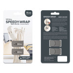"""UT Wire Speedy-Wrap Magnetic Cable Wrap, 0.82"""" x 10"""", Gray, 2/Pack Product Image"""