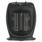 "Alera Ceramic Heater, 7 1/8""w x 5 7/8""d x 8 3/4""h, Black Product Image"