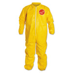 DuPont Tychem QC Coveralls with Elastic Wrists and Ankles, 3X-Large, Yellow Product Image