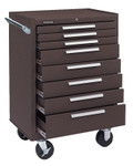 Kennedy Industrial Series Roller Cabinet, 27 x 18 x 39, 8 Drawers, Brown, w/Slide Product Image