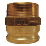 Dixon Valve Andrews/Boss-Lock Type F Cam and Groove Adapters, 2 in x 2 in NPT Male, Aluminum Product Image