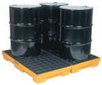 Eagle Mfg 4-Drum Modular Platforms, Yellow, 10,000 lbs, 30 gal/side, 51 1/2 in x 52 1/2 in Product Image