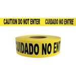 Presco Barricade Tape, 3 in x 1000 ft, 2 mil, Yellow, CAUTION DO NOT ENTER Product Image