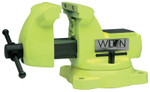 JPW Industries High Visibility Safety Vises, 5 in Jaw, 3 3/4 in Throat, Swivel Base Product Image