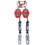 Honeywell Twin Turbo Fall Protection System With G2 Connector, 6 ft, 3,600 lb, Red Product Image