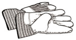 Ridge Tool Company Drain Cleaner Accessories, Pair of Leather Gloves Product Image