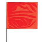 Presco Stake Flags, 4 in x 5 in, 24 in Height, Red Product Image