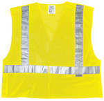 MCR Safety Luminator Class II Tear-Away Safety Vests, 2XL, Fluorescent Lime Product Image