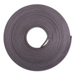 """ZEUS Adhesive-Backed Magnetic Tape, Black, 1/2"""" x 10ft, Roll Product Image"""