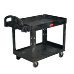 Newell Brands Two Lipped Shelves Utility Carts, 45 1/4 x 25.88 x 33 1/4h, Black Product Image
