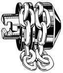 Ridge Tool Company Drain Cleaner Tools, Chain Knocker, 3 to 4 in, for 1/2 in Cable, T-114 Product Image
